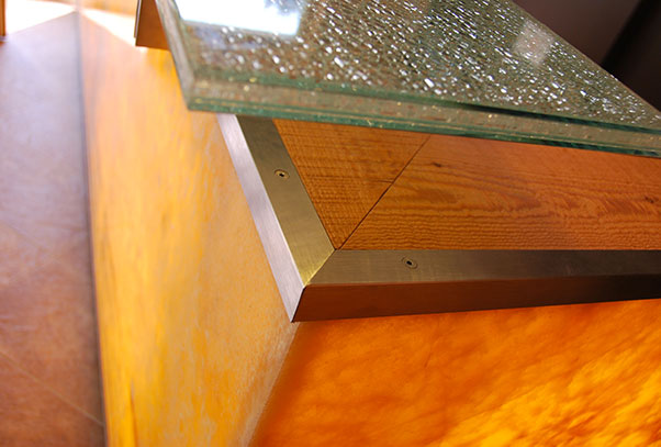 arredamento reception, progettazione uffici direzionali, camping Lago di Levico Trentino