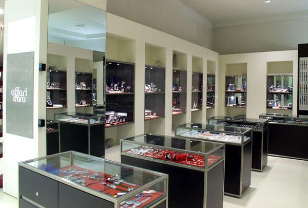 arredamento gioiellerie, gioielleria Affari d'Oro Pesaro